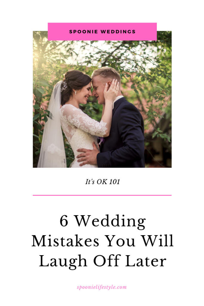 Spoonie Weddings Bride and groom kissing 6 wedding mistakes you will laugh off later spoonielifestyle.com